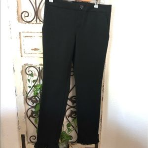 Gucci black ruffle ankle career pants with pockets